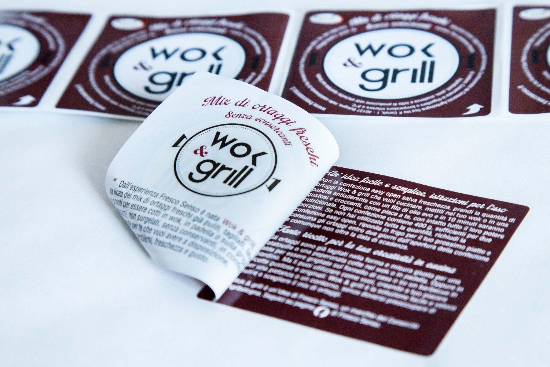 Etichette dual label, multipagina